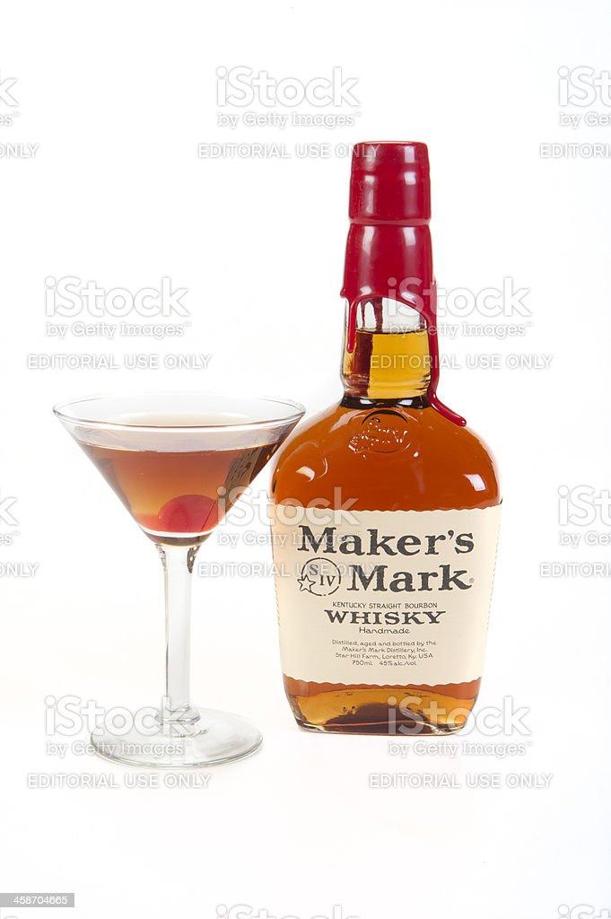 Marker's Mark Manhattan Cocktail stock photo