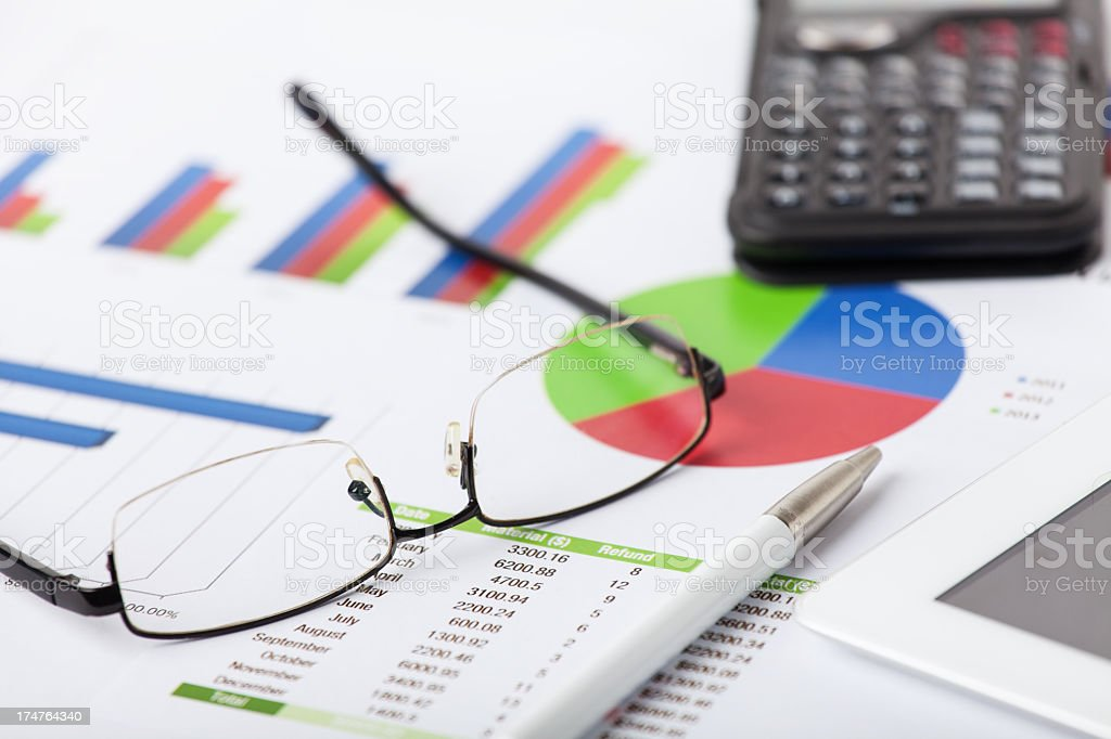 Market analysis and planing royalty-free stock photo
