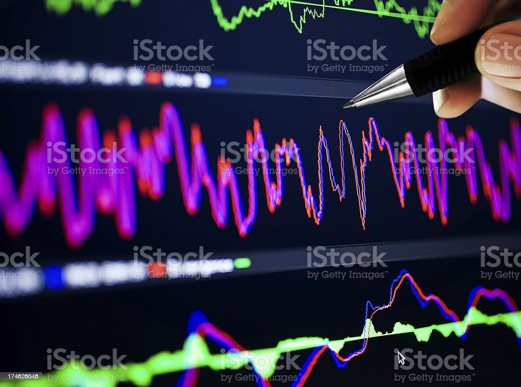 Market Analyze on lcd screen royalty-free stock photo