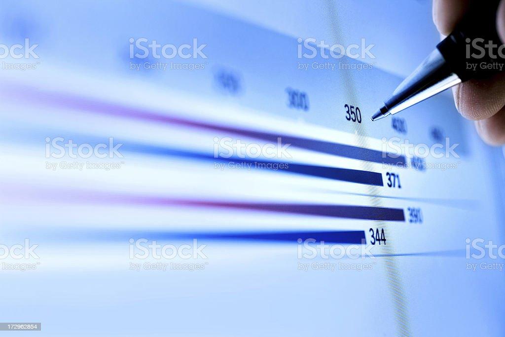Market Analyze stock photo