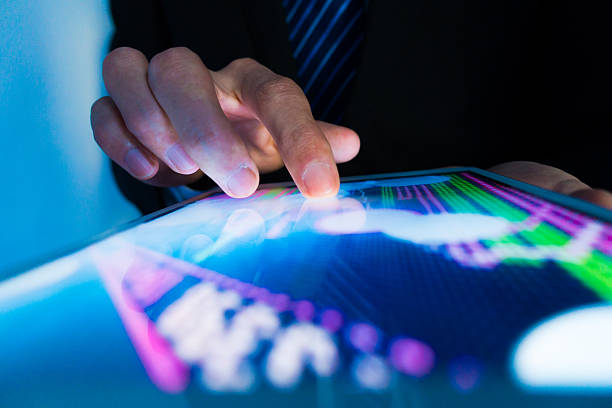 market analyze - touch screen stock photos and pictures