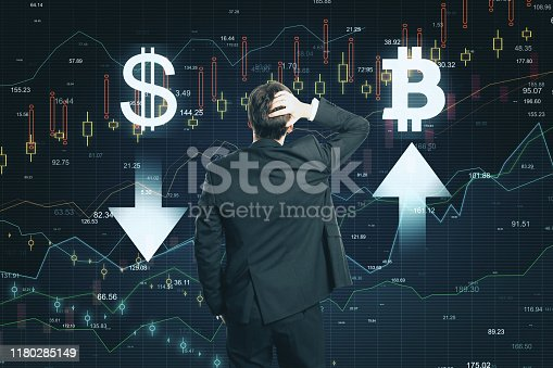 istock Market and cryptocurrency concept 1180285149