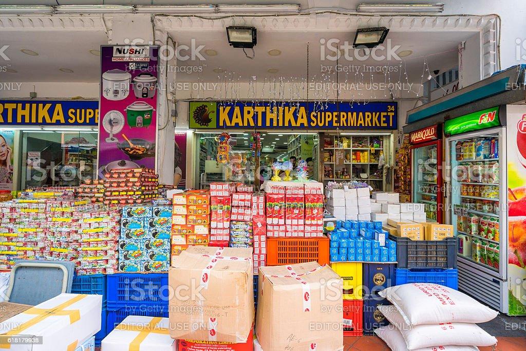 Market at Little India, Singapore stock photo