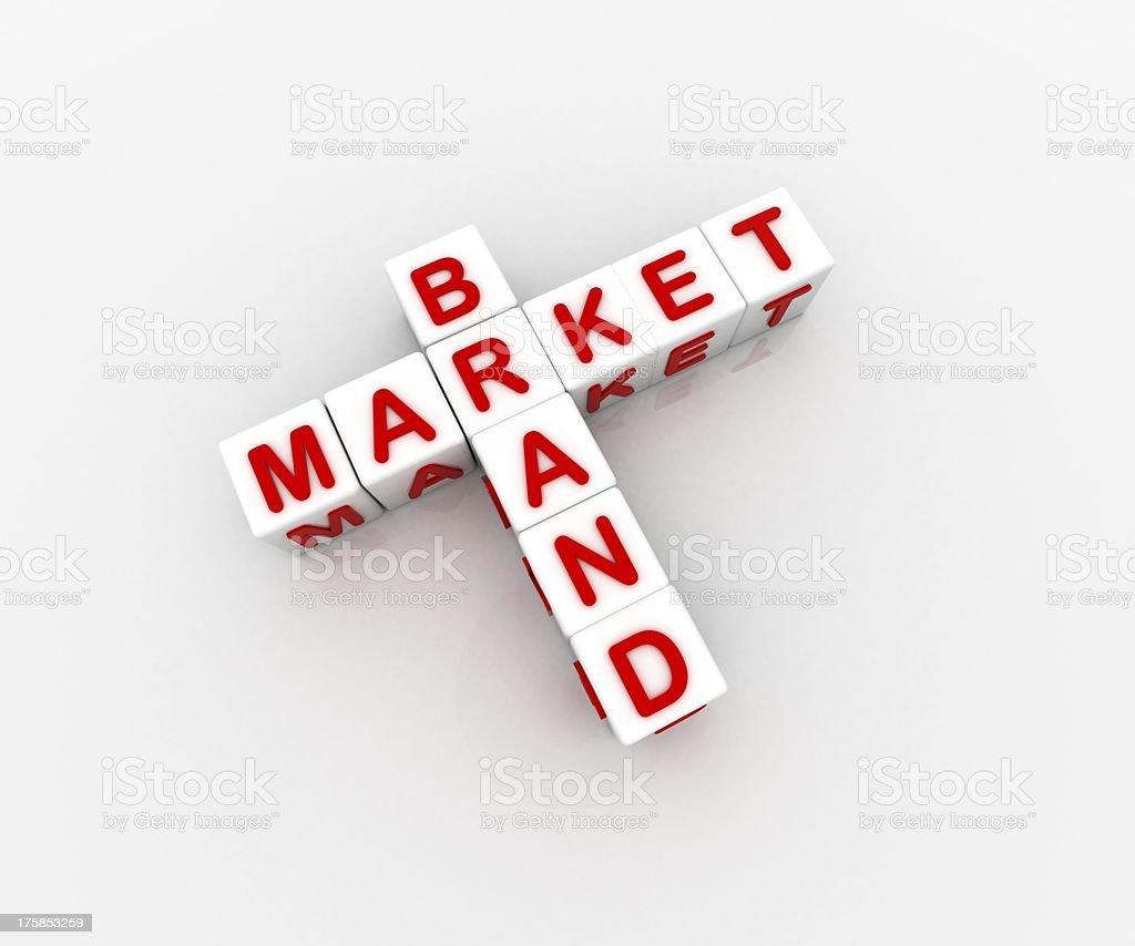 Market Brand royalty-free stock photo