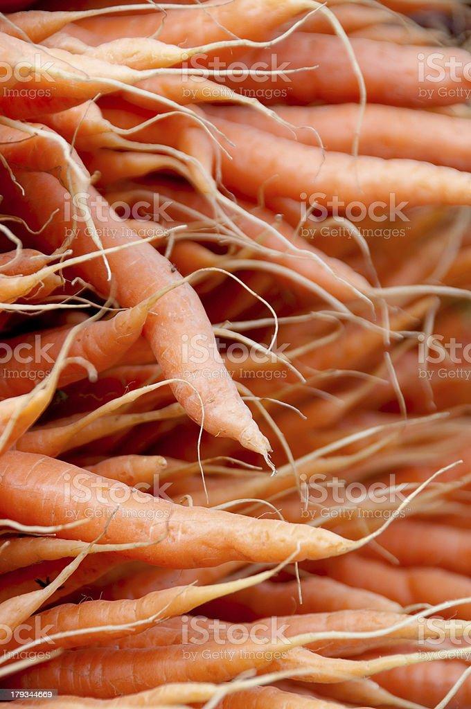 Market Carrots royalty-free stock photo
