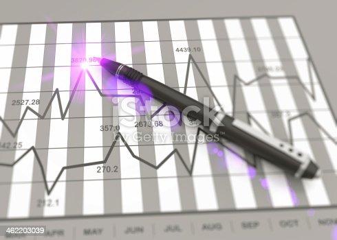 istock Market chart concept 462203039