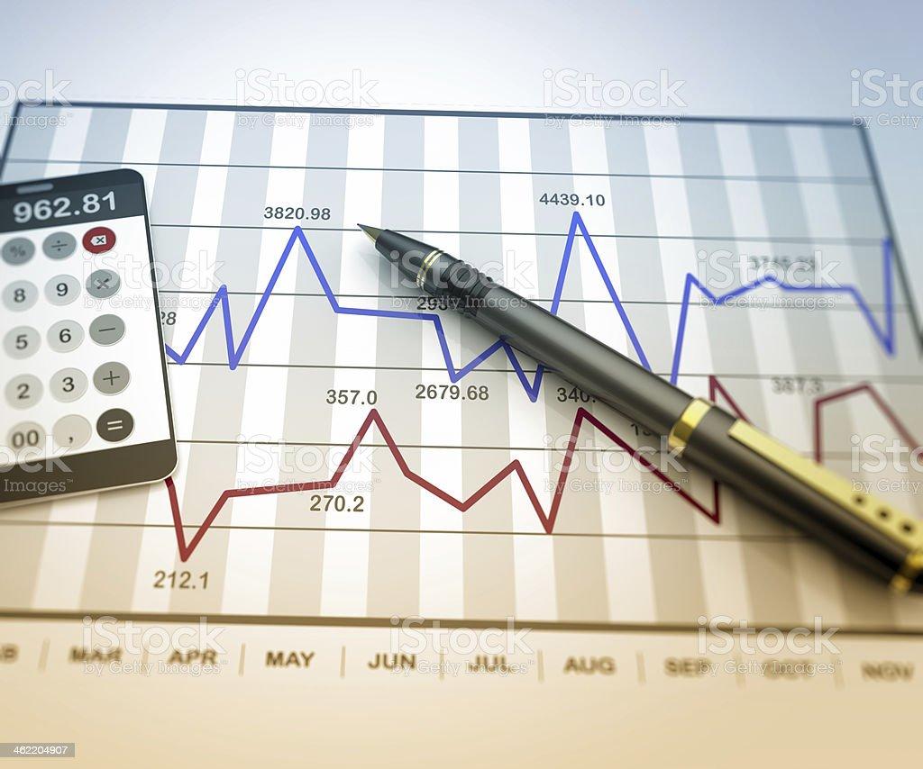 Market chart concept royalty-free stock photo