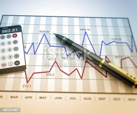 istock Market chart concept 462204907