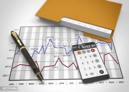 istock Market chart concept 462204969