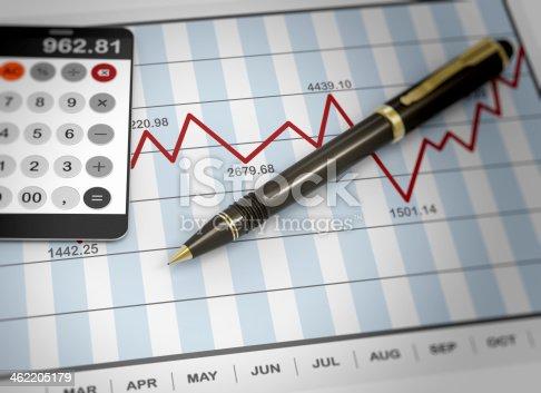 istock Market chart concept 462205179