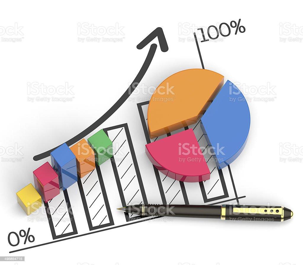 Market chart concept stock photo