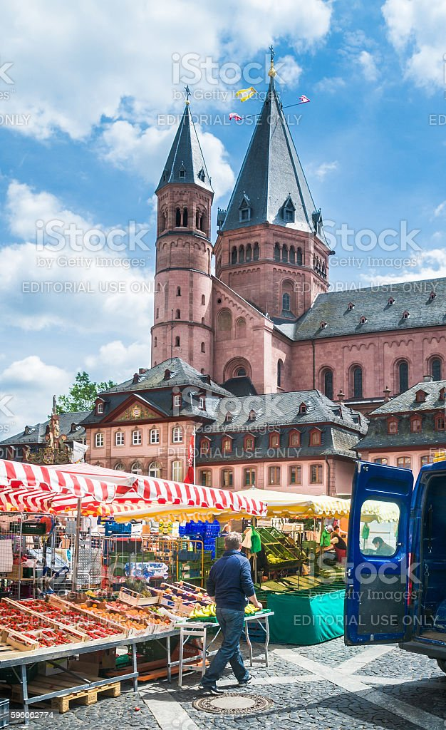 Market Clean up royalty-free stock photo