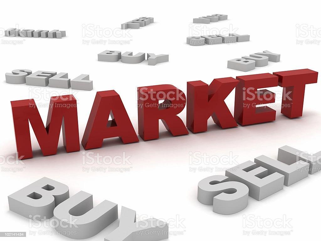 Market Concept royalty-free stock photo
