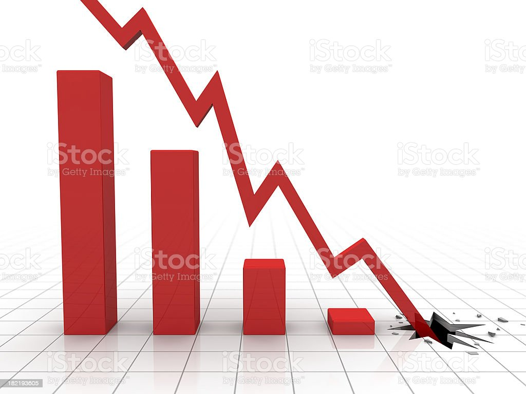 Market Crash royalty-free stock photo