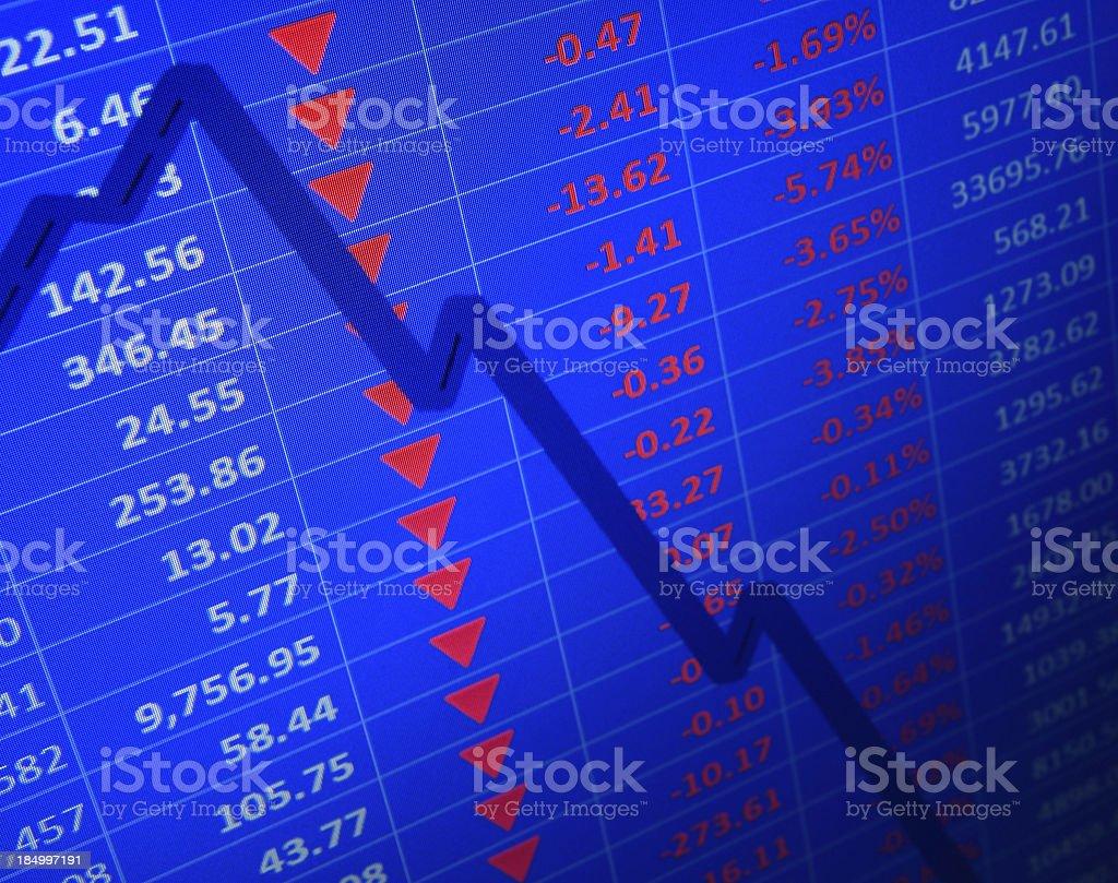 Market Crashes royalty-free stock photo