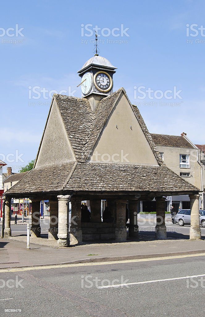 Market Cross per Witney. Oxfordshire. Inghilterra foto stock royalty-free