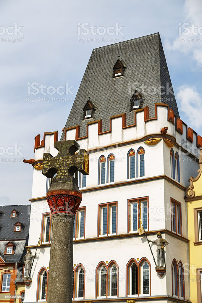 Market Cross of Square in Trier stock photo