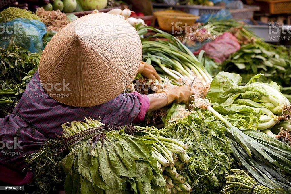market dalat vietnam stock photo