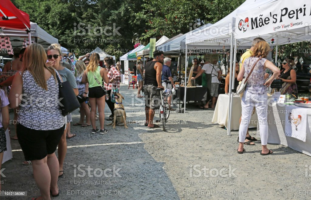 Market Day in Langley, Canada