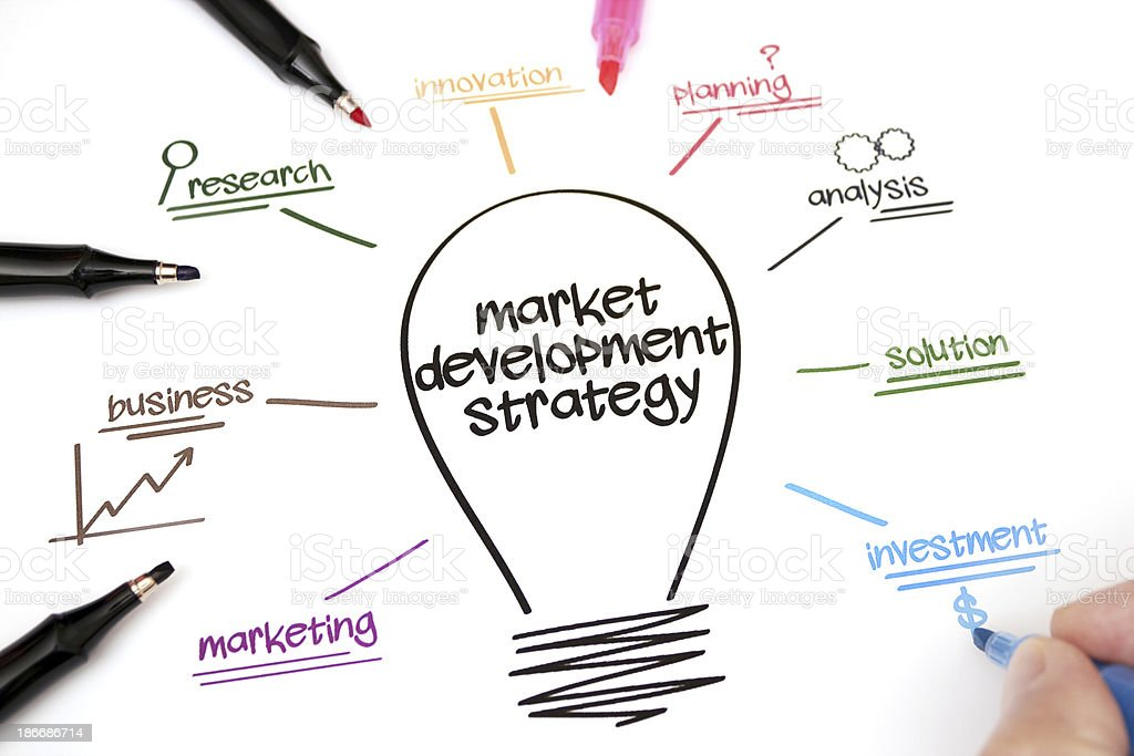 Market development strategy royalty-free stock photo