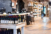 istock Market food shop interior inside in downtown lower Chelsea neighborhood district Manhattan NYC, Wine Vault alcoholic beverages 944790952