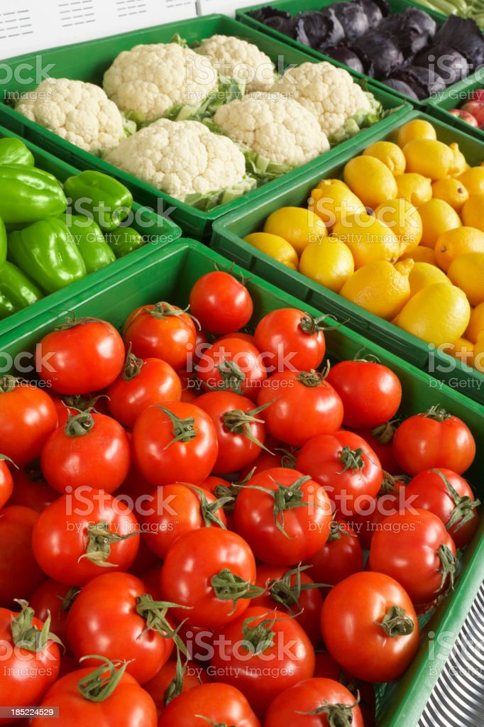 Market fresh vegetables for sale royalty-free stock photo