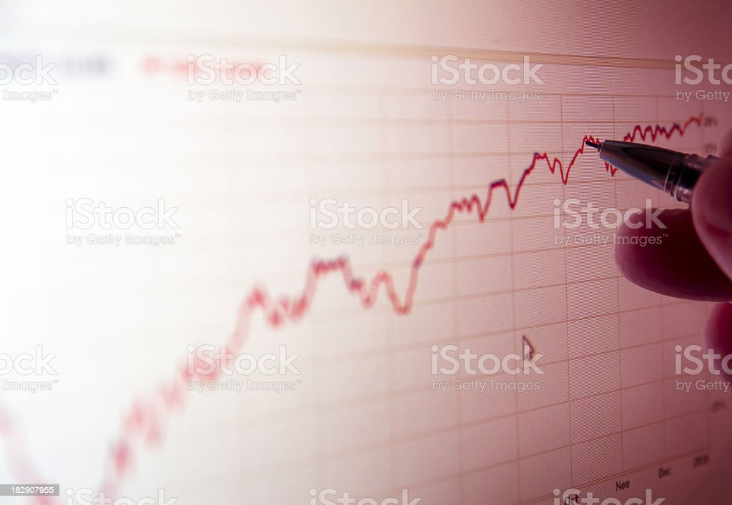 market graph analyze royalty-free stock photo
