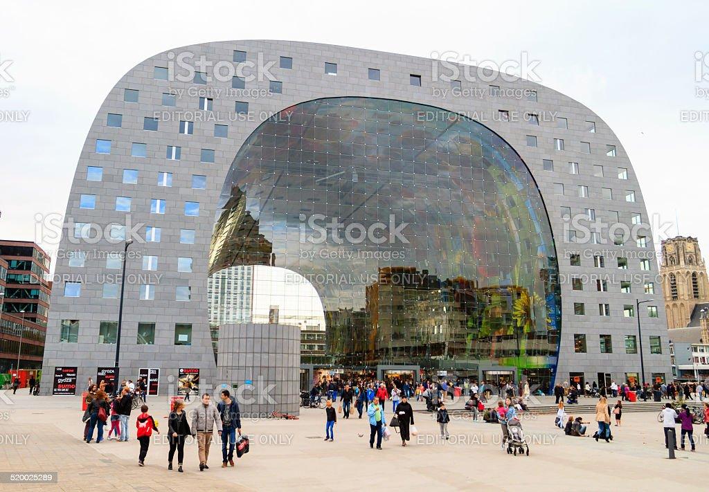 Market Hall in Rotterdam stock photo
