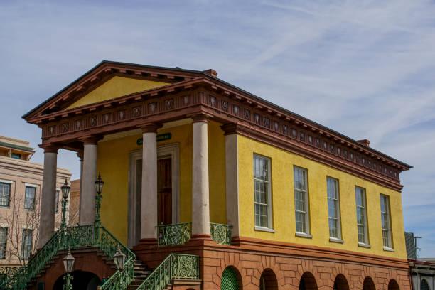 Market Hall of the Confederacy Charleston South Carolina stock photo