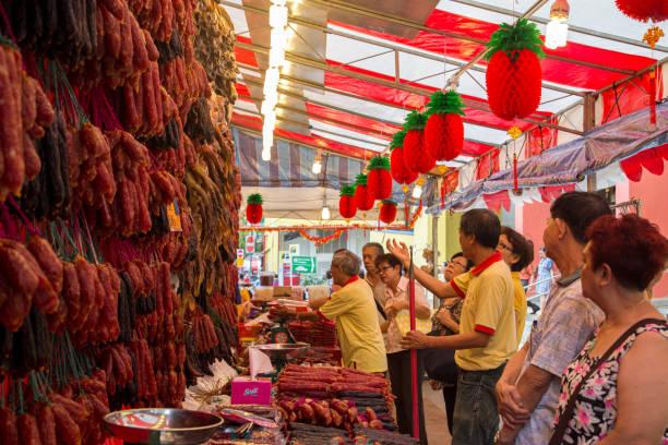 Mercado en Chinatown, Singapur - foto de stock
