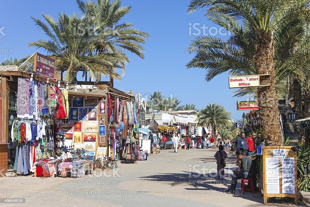 Market in Dahab, Egypt stock photo