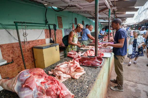 Market in Havana's Old Town stock photo