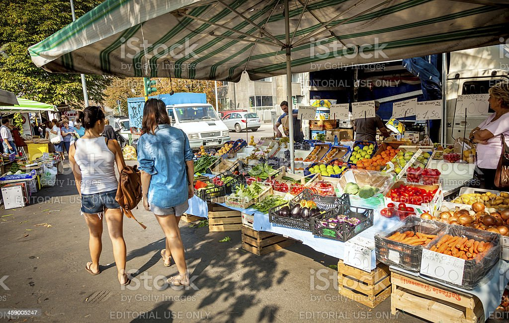 Market in Milan, Italy royalty-free stock photo