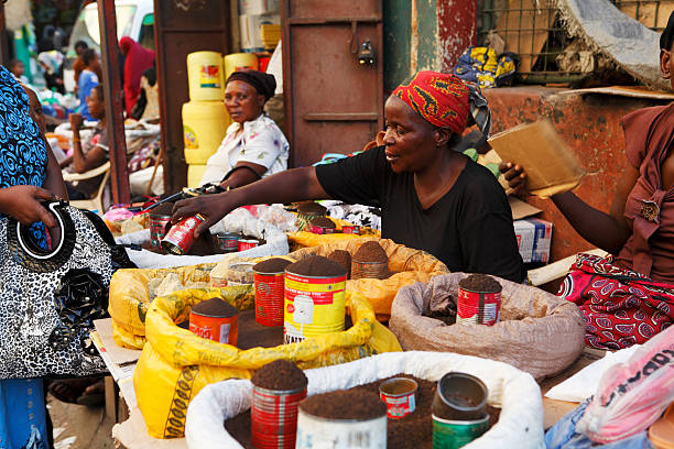 Market in Mombasa stock photo