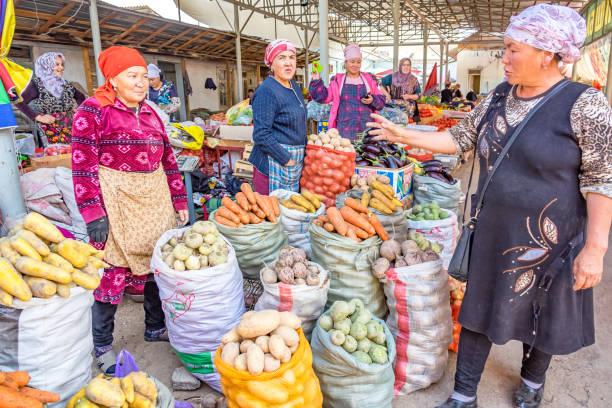 Market in Osh Kyrgyzstan stock photo