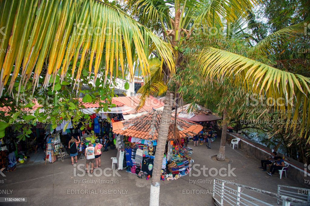 market in Puerto Vallarta stock photo
