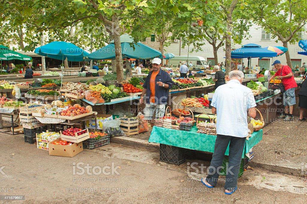 Market in Split royalty-free stock photo