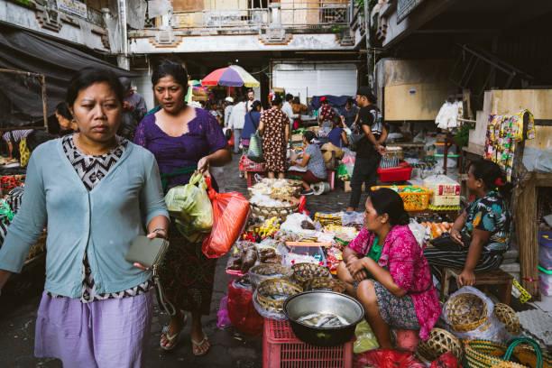 Market in Ubud, Bali stock photo