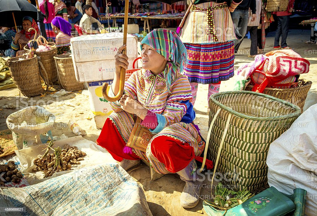 Market in Vietnam royalty-free stock photo