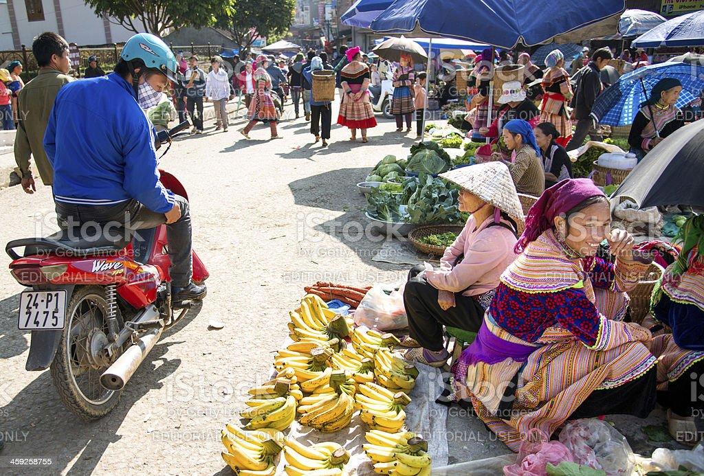 Market in Vietnam stock photo