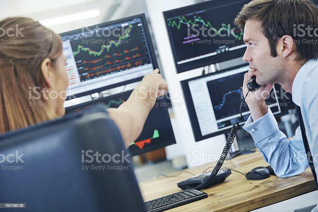 Market is trending downwards stock photo