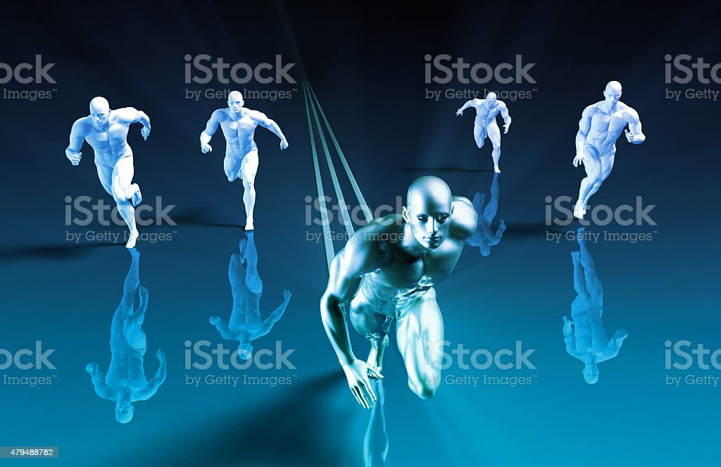 Market Leader stock photo