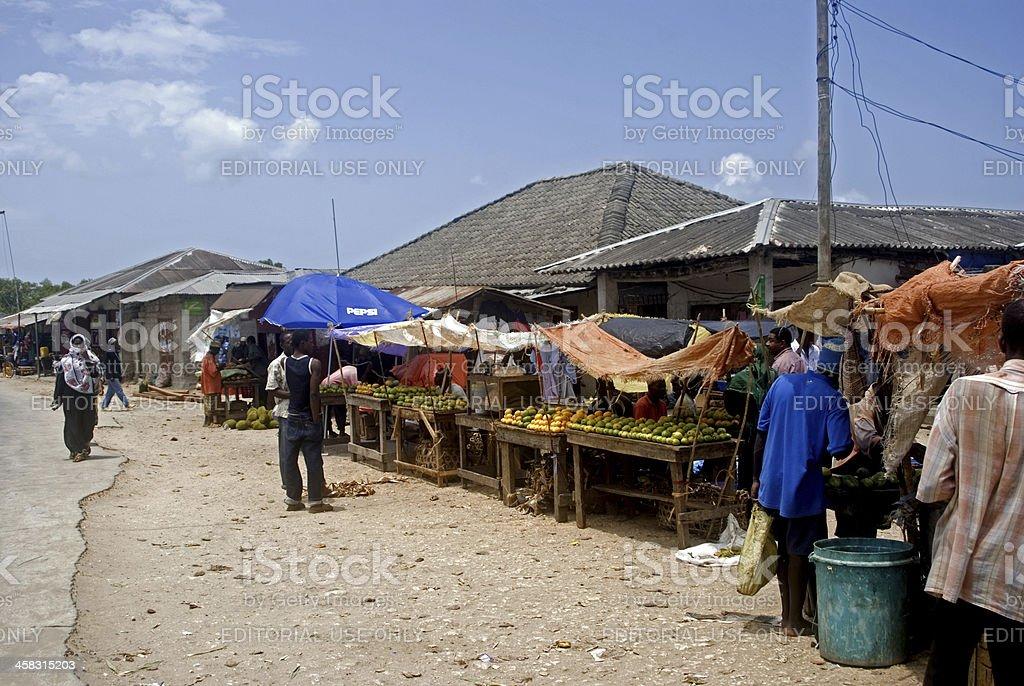 Market, Mkokotoni, Zanzibar, Tanzania royalty-free stock photo