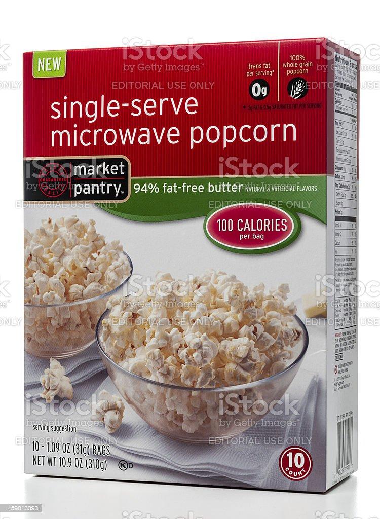 Market Pantry single-serve popcorn box stock photo