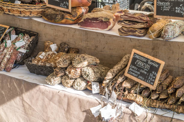 market Food on a Market stall mercato stock pictures, royalty-free photos & images