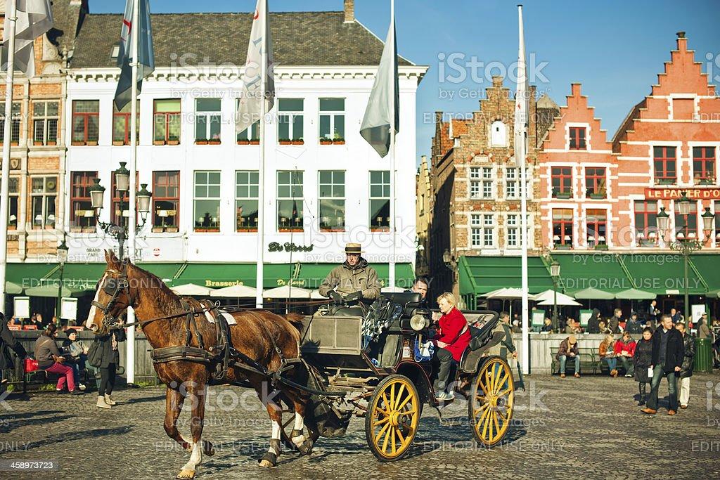 Market Place, Bruges, Belgium royalty-free stock photo