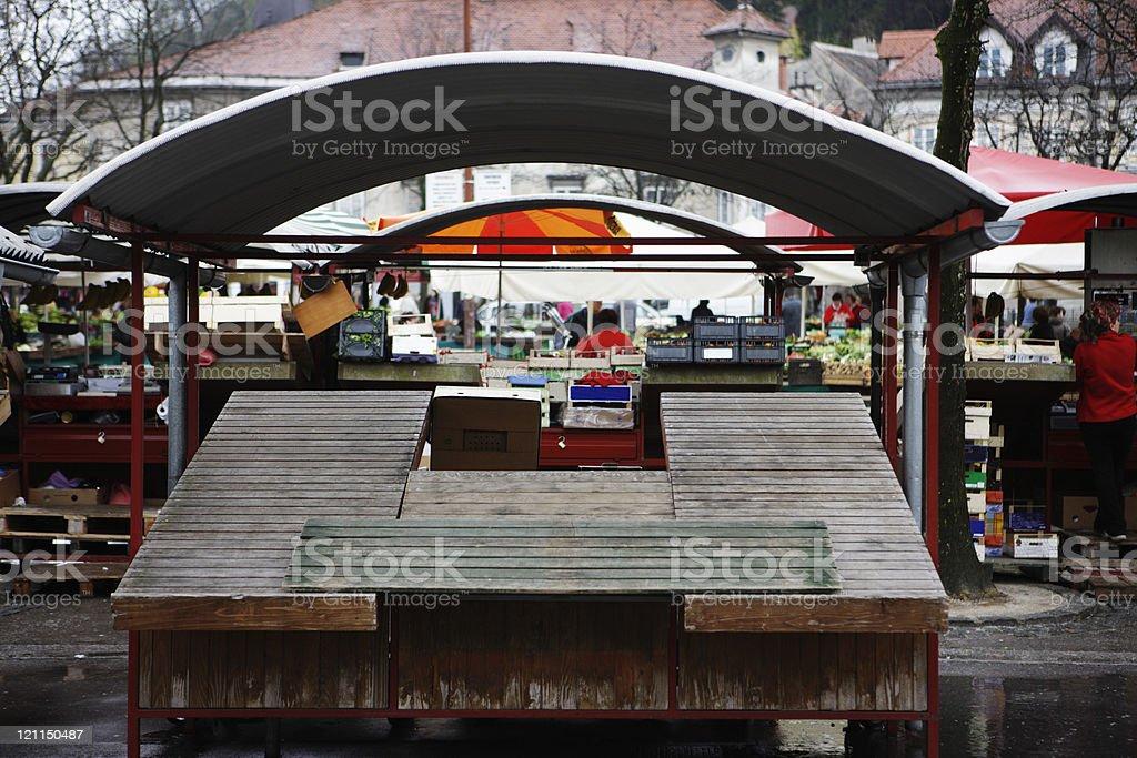 Market place stock photo