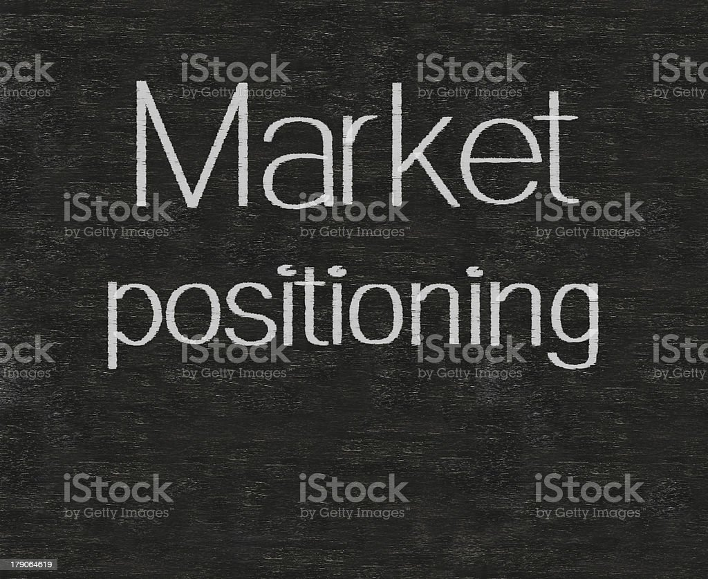 market positioning marketing terms written on blackboard background high resolution royalty-free stock photo
