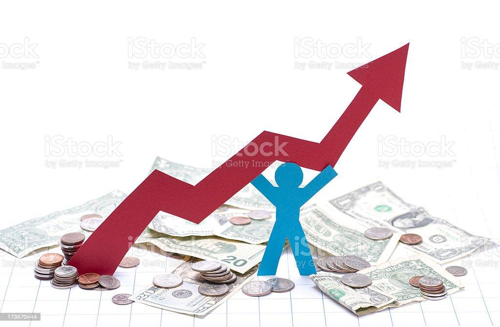 Market recovery stock photo