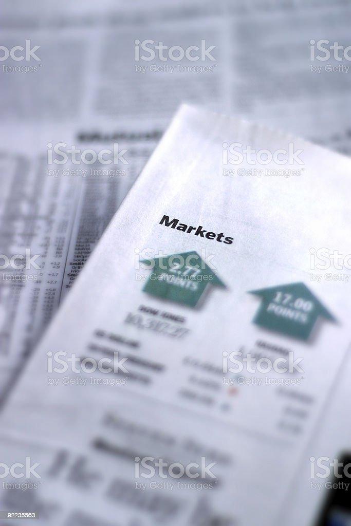 Market Report royalty-free stock photo